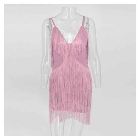 Mini šaty s třásněmi FashionEU