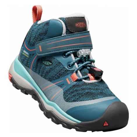 KEEN TERRADORA MID WP K Dětská outdoorová obuv KEN1204146701 aqua sea/coral