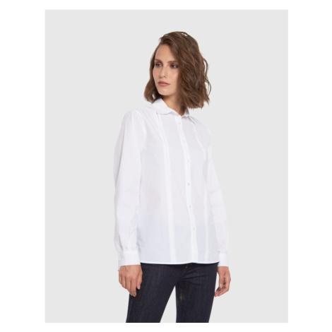 Košile La Martina Woman Shirt L/S Silky Poplin - Bílá
