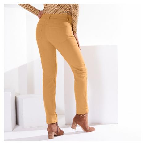 Blancheporte Zeštíhlující kalhoty, vyšší postava šafránová