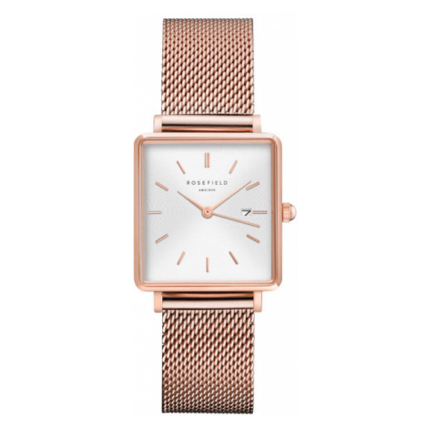 Rosefield The Boxy White Sunray Mesh Rosegold