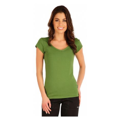 Dámské tričko s krátkým rukávem Litex 5A359 | trávově zelená