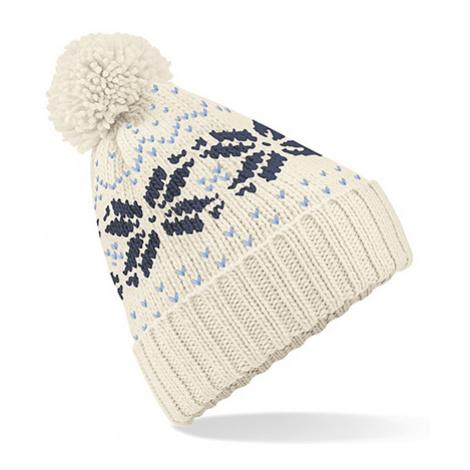 Zimní čepice Snowstar - bílomodrá Beechfield