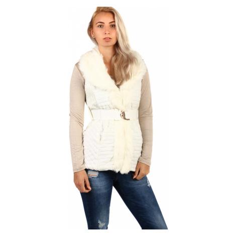 Zimní prošívaná vesta s kožíškem