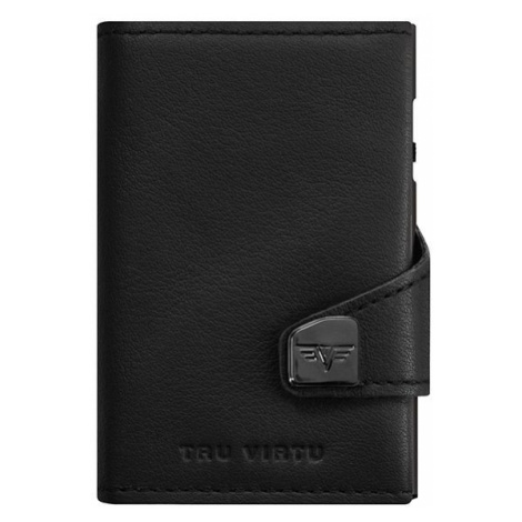 Tru Virtu Twin Wallet Click & Slide nappa black