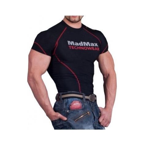 MadMax Kompresní triko s krátkým rukávem MSW901 černočervené
