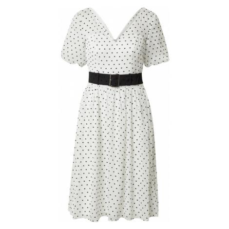 Chi Chi London Šaty bílá / černá