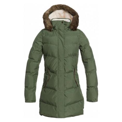 Kabát Roxy Ellie Plus bronze green