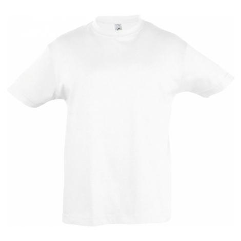 SOĽS Dětské triko s krátkým rukávem REGENT KIDS 11970102 Bílá SOL'S