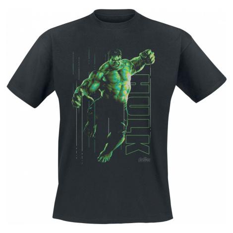 Avengers Hulk Glow Tričko černá
