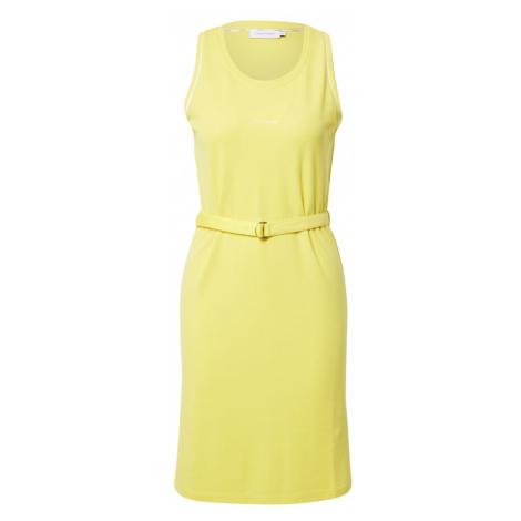 Calvin Klein Letní šaty žlutá / bílá
