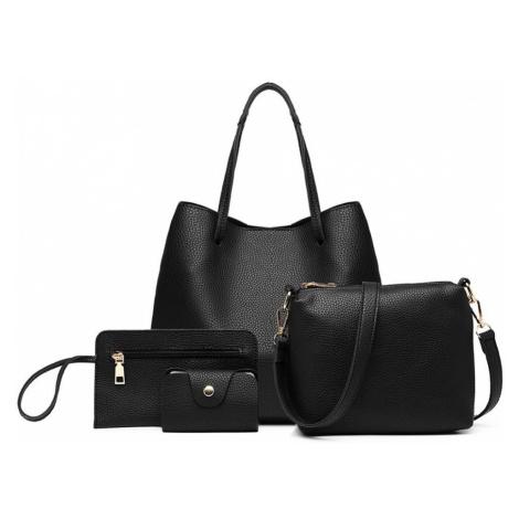 Černý praktický dámský kabelkový set 4v1 Pammy Lulu Bags