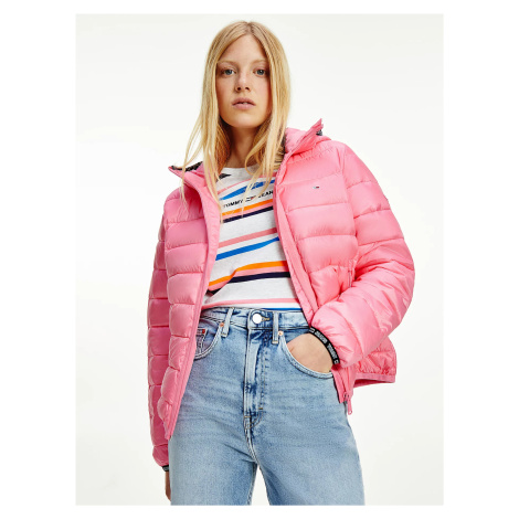 Tommy Jeans dámská růžová bunda Tommy Hilfiger