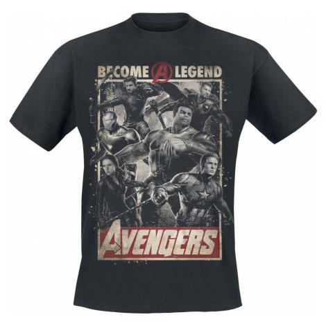 Avengers Endgame - Become A Legend Tričko černá