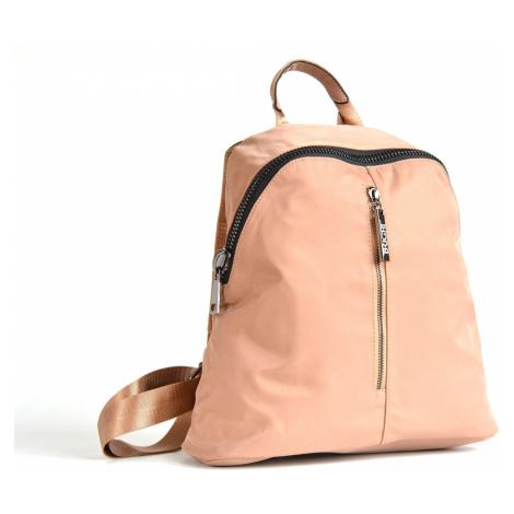 Bright Krásný elegantní batoh A5 s maxi zipem a kapsou tm.béžový, 32 x 13 x 31 (BR17-W117-8161-1