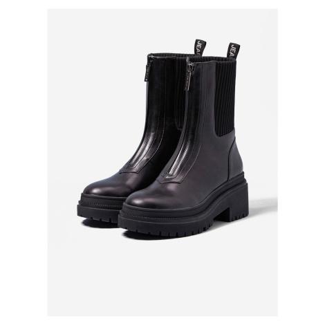 Černé kotníkové boty na platformě Pepe Jeans Rock