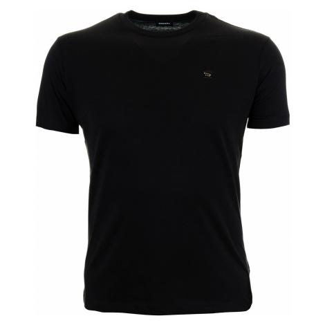Pánské jednobarevné černé tričko Diesel