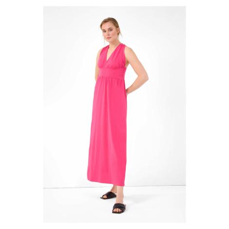 Bavlněné maxi šaty Orsay