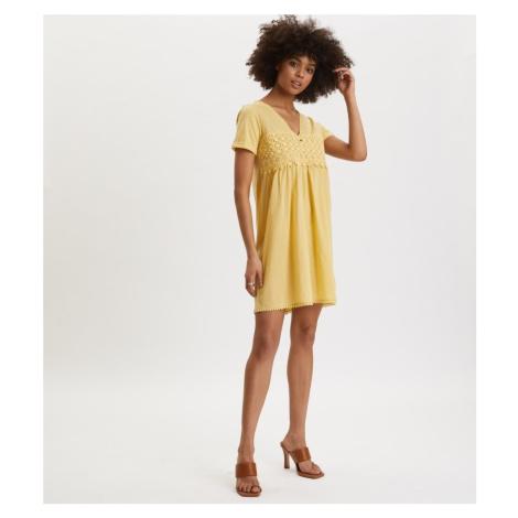 Šaty Odd Molly Finest Embroidery Dress - Žlutá