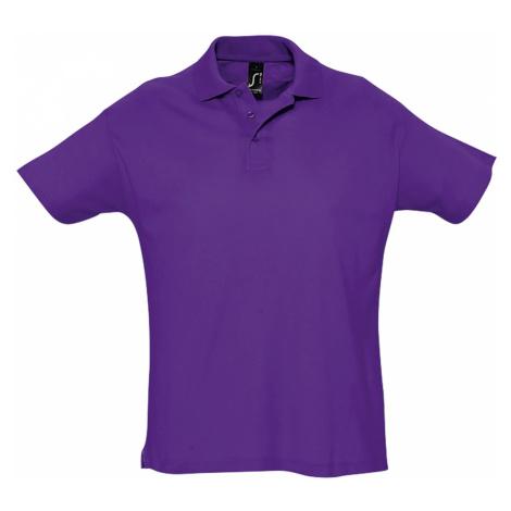SOĽS Pánská polokošile SUMMER II 11342712 Dark purple SOL'S