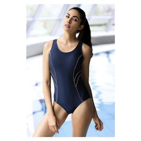 Zeštíhlující jednodílné plavky Phoebe tmavě modré Self