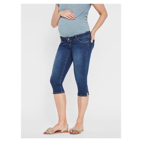 Modré těhotenské 3/4 slim fit džíny Mama.licious Lola Mama Licious