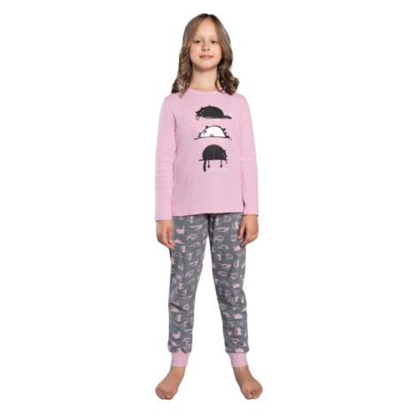 Dívčí pyžamo Dima růžové Italian Fashion