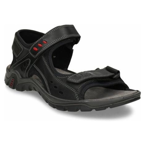 Černé pánské kožené sandály Weinbrenner
