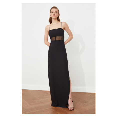 Trendyol Black Tulle Detailed Evening Dress & Graduation Gown