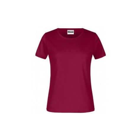 James & Nicholson dámské triko vínové