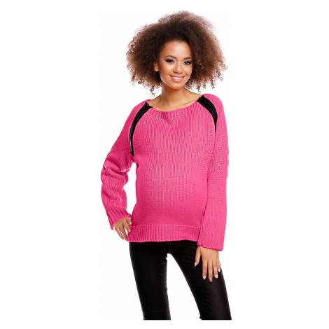 Fuchsiový těhotenský pulovr 30050C PeeKaBoo