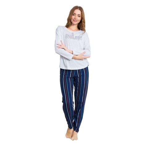 Dámské pyžamo Stacy šedé relax Vienetta Secret