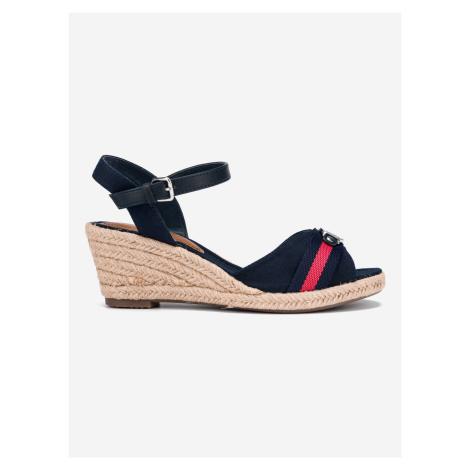 Klínová obuv Tom Tailor Modrá