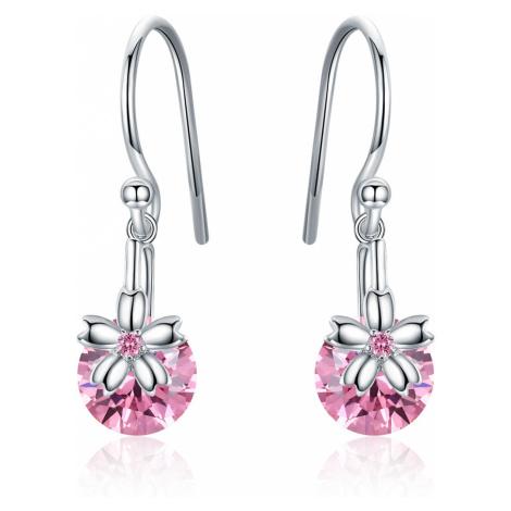Linda's Jewelry Stříbrné náušnice Visací Květ Třešně IN198