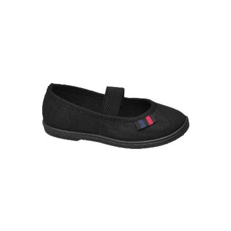 Černá plátěná domácí obuv Vty