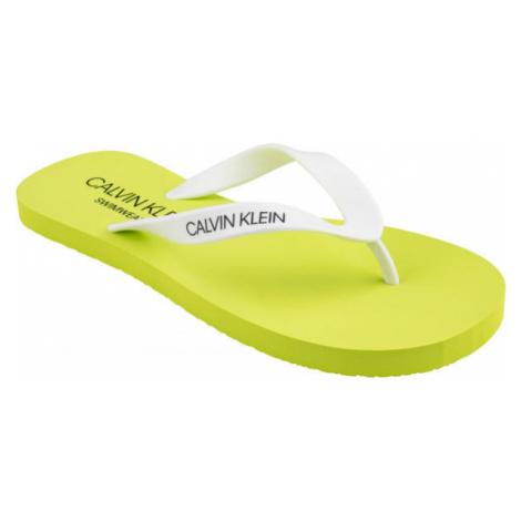Calvin Klein FF SANDALS žlutá - Pánské žabky