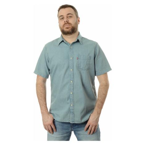 Džínová košile Levi´s® Classic Standard pánská světle modrá