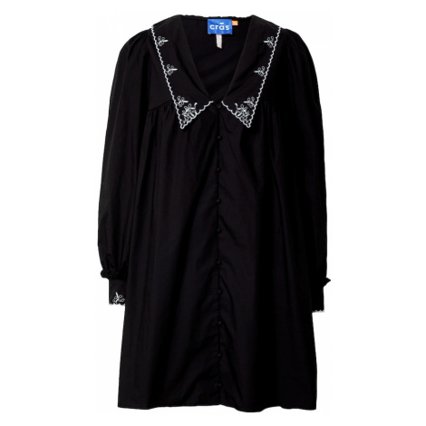 Crās Košilové šaty 'Nayacras' černá / bílá