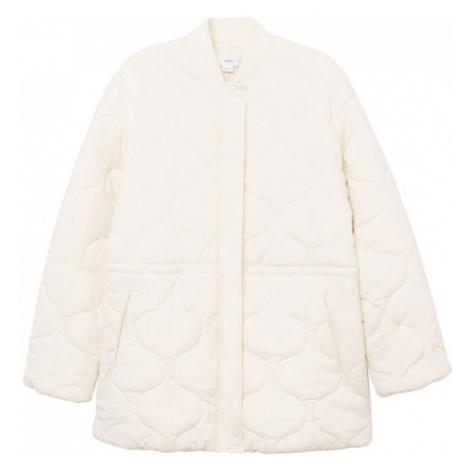 MANGO Přechodná bunda krémová