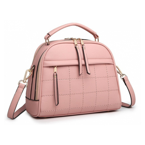 Růžová dámská kufříková kabelka s prošíváním Pekahiah Lulu Bags