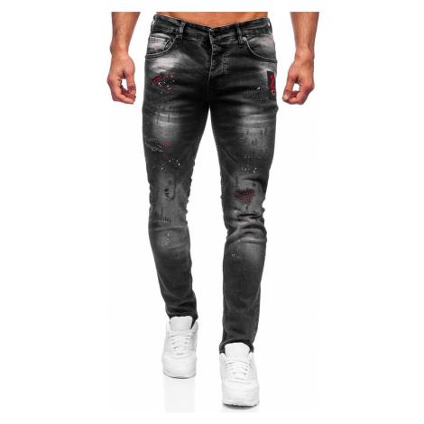 Černé pánské džíny regular fit Bolf 4014-1 RWX