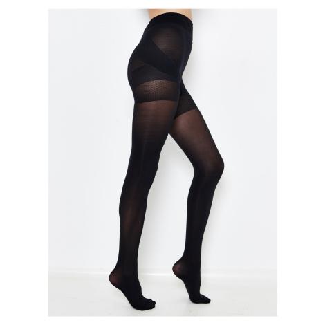 Černé punčochové kalhoty CAMAIEU Camaïeu