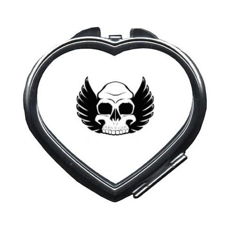 Zrcátko srdce Okřídlená lebka