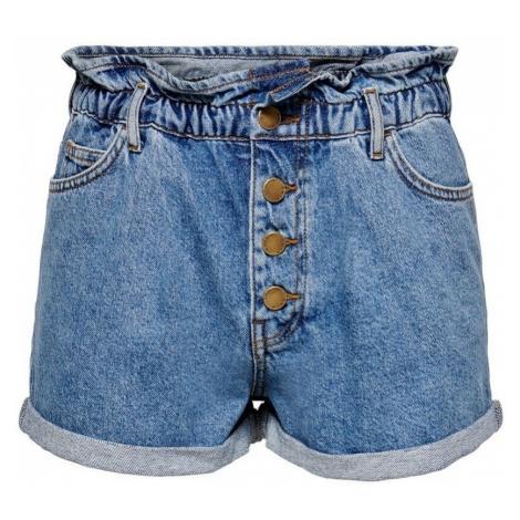 Only Short en jeans femme Cuba life paperbag Modrá