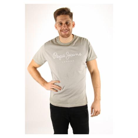 Pepe Jeans pánské šedo-zelené tričko West