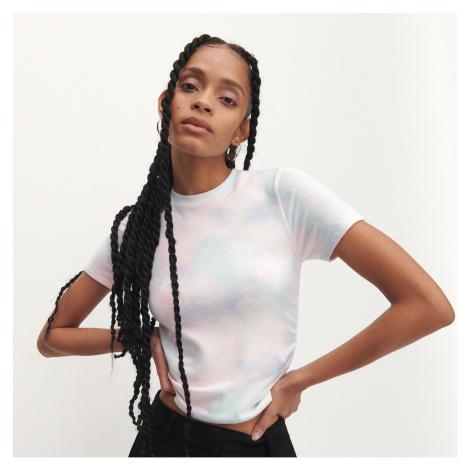 Reserved - Tričko s batikovaným efektem - Vícebarevná