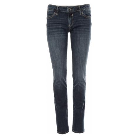 Mavi jeans Lindy Mid Foggy Glam dámské tmavě modré