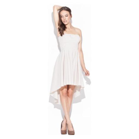 Dámské šaty Katrus K031 béžové | béžová