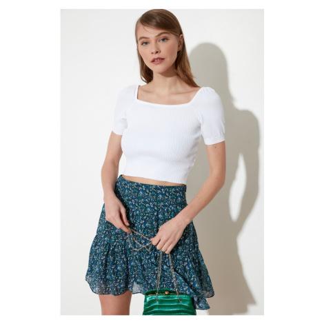 Trendyol Ekru Square Collar Knitwear Sweater
