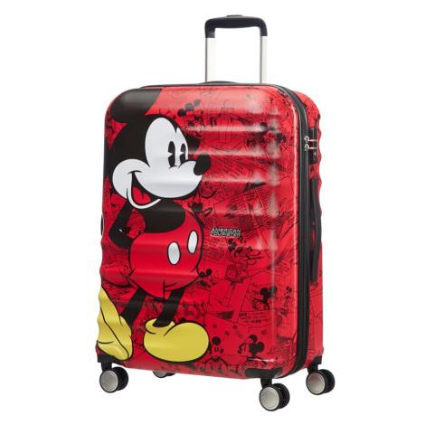 American Tourister Cestovní kufr Wavebreaker Disney Spinner 64 l - Mickey Comics Red